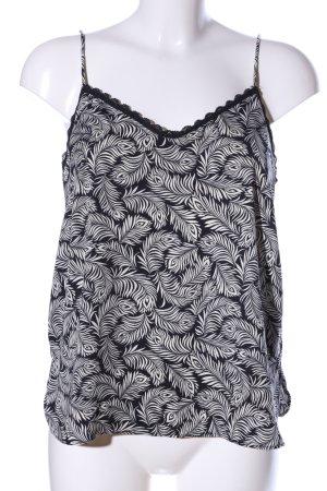 H&M Top de tirantes finos negro-blanco elegante