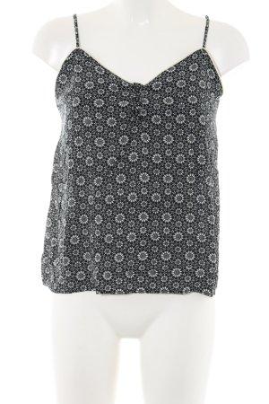 H&M Spaghettiträger Top schwarz-weiß abstraktes Muster Casual-Look