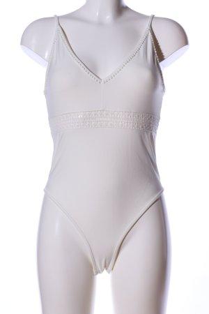 H&M Blusen-Body weiß Elegant