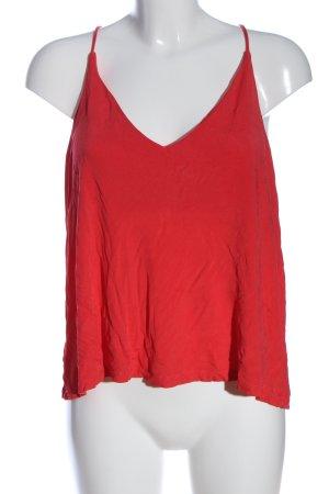 H&M Haut à fines bretelles rouge style décontracté