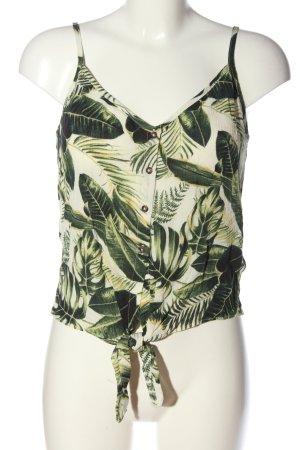 H&M Top z cienkimi ramiączkami Abstrakcyjny wzór W stylu casual