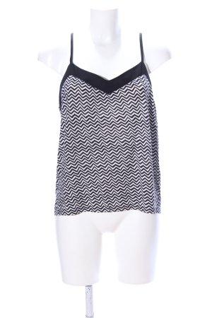 H&M Top con bretelline nero-bianco stampa integrale stile casual