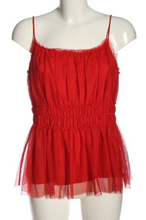 H&M Top z cienkimi ramiączkami czerwony W stylu casual