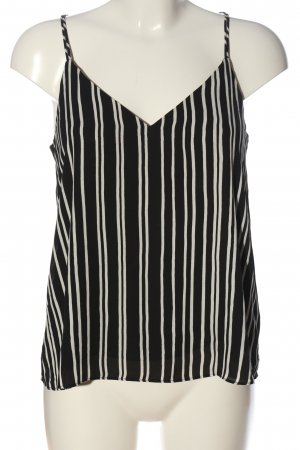 H&M Spaghetti Strap Top black-natural white striped pattern casual look