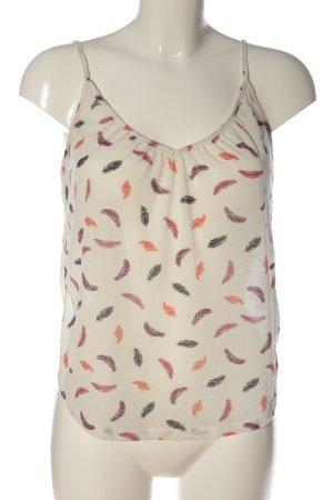 H&M Top z cienkimi ramiączkami Nadruk z motywem W stylu casual