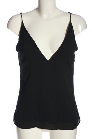 H&M Top z cienkimi ramiączkami czarny W stylu casual
