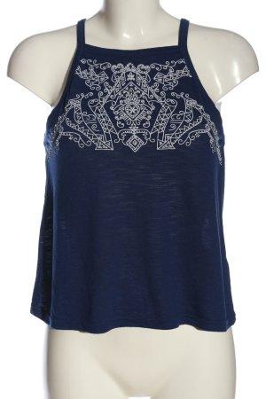 H&M Spaghettiträger Top blau-weiß Casual-Look