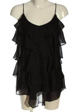 H&M Top z cienkimi ramiączkami czarny Elegancki