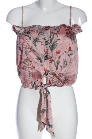 H&M Haut à fines bretelles motif de fleur style décontracté