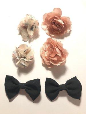 H&M Spangen Klammern Blüten Blumen Schleifen