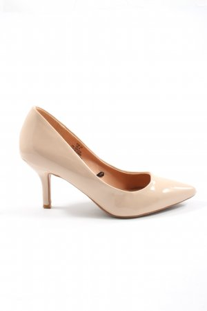 H&M Pointed Toe Pumps cream wet-look