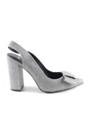 H&M Spitz-Pumps silberfarben Elegant