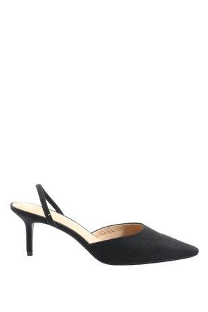 H&M Czółenka ze spiczastym noskiem czarny W stylu biznesowym