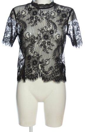 H&M Lace Blouse black elegant