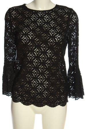 H&M Blusa de encaje negro estilo clásico