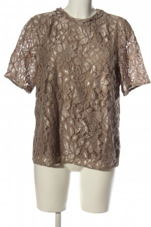 H&M Lace Blouse brown casual look