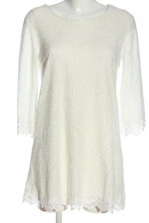 H&M Blouse en dentelle blanc style d'affaires