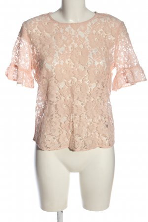 H&M Spitzenbluse nude Webmuster Casual-Look