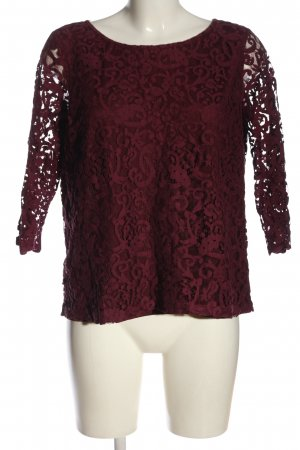 H&M Spitzenbluse rot Casual-Look