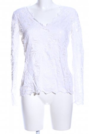 H&M Spitzenbluse weiß Casual-Look