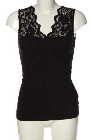 H&M Koronkowa bluzka czarny W stylu casual