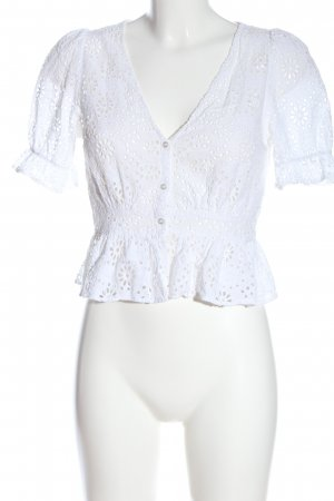 H&M Lace Blouse white casual look