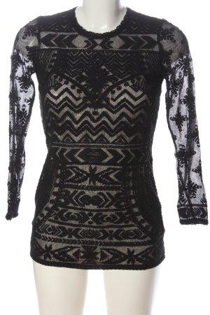 H&M Kanten blouse zwart elegant