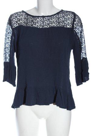 H&M Spitzenbluse blau Elegant