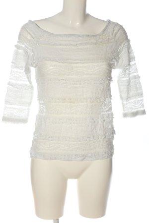 H&M Spitzenbluse weiß Elegant
