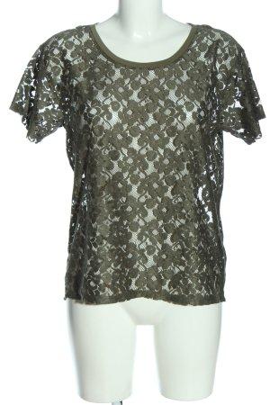 H&M Spitzenbluse khaki Casual-Look