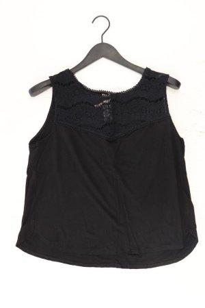 H&M Spitzenbluse Größe XL Ärmellos schwarz aus Viskose
