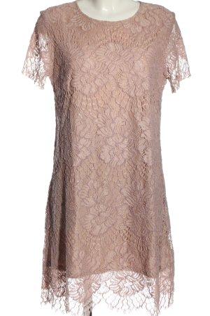 H&M Spitzenkleid pink-creme Blumenmuster Elegant