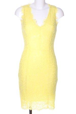 H&M Spitzenkleid blassgelb Elegant