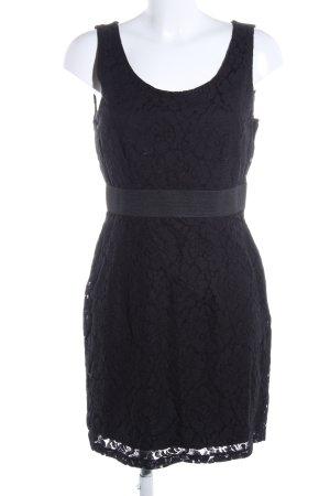 H&M Spitzenkleid schwarz Blumenmuster Elegant
