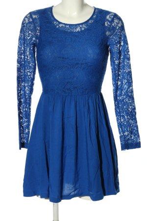 H&M Spitzenkleid blau Casual-Look