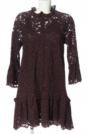 H&M Lace Dress brown flower pattern casual look