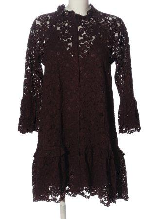 H&M Kanten jurk bruin casual uitstraling