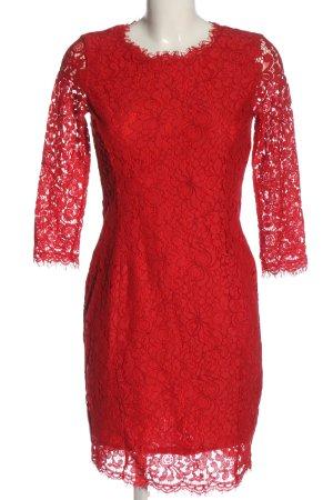 H&M Spitzenkleid rot Elegant