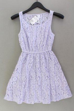 H&M Spitzenkleid Größe 34 neu mit Etikett Träger lila aus Baumwolle