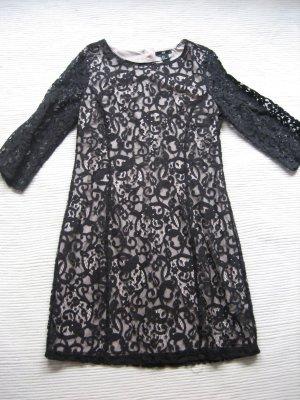 H&M spitzenkleid neu gr. 36 s schwarz creme