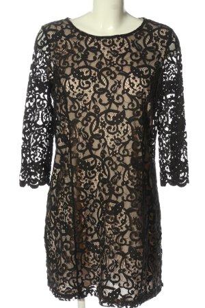 H&M Spitzenkleid schwarz-nude extravaganter Stil