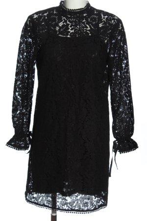 H&M Spitzenkleid schwarz Webmuster Casual-Look