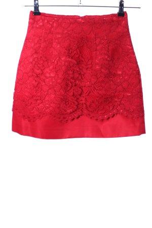 H&M Lace Skirt red elegant