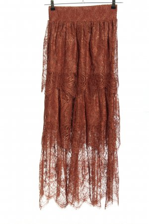 H&M Lace Skirt brown casual look