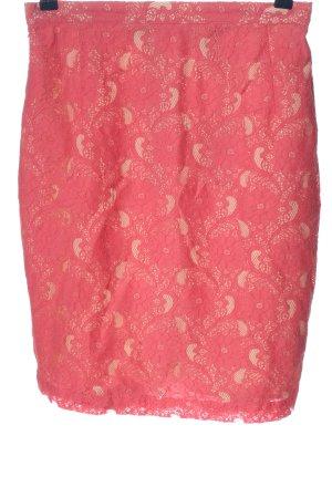 H&M Falda de encaje rosa look casual