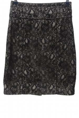 H&M Falda de encaje negro look casual