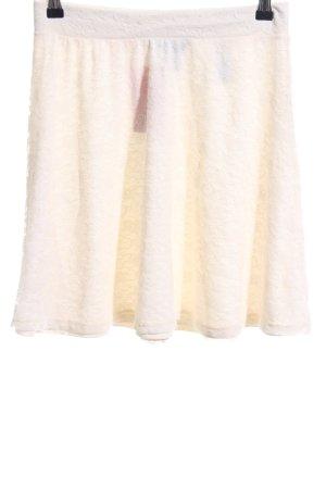 H&M Falda de encaje blanco puro look casual