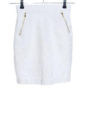 H&M Falda de encaje blanco look casual