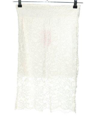 H&M Koronkowa spódnica biały W stylu casual