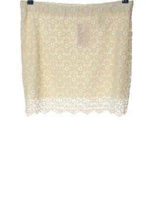 H&M Falda de encaje crema look casual